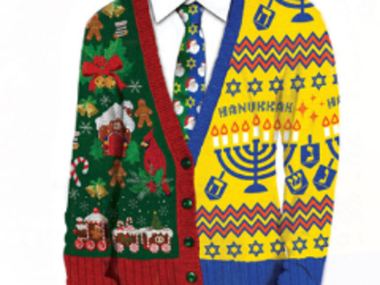 The ugly Chrismukkah T-shirt/sweater.