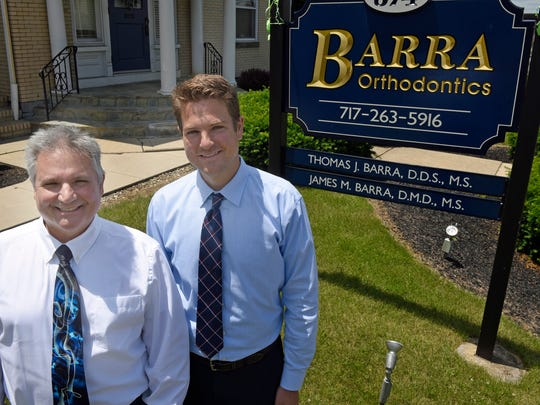 Tom Barra and his son, James, are both dentist at the same practice, Barra Orthodontics, 974 Lincoln Way East, Chambersburg.