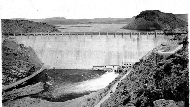 One of the many archival photographs that will be on display at the New Mexico Farm & Ranch Heritage Museum commemorating the 100th anniversary of Elephant Butte Dam.