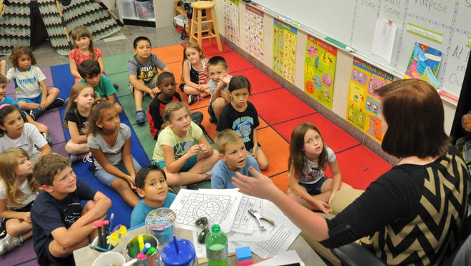 A first grade class at Manatee Elementary in Viera. Brevard Public Schools officials are looking to address growth and capacity issues in Viera and West Melbourne elementary schools.