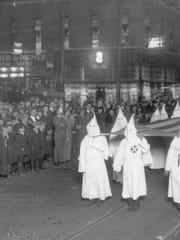 The Ku Klux Klan on parade, Anderson, Ind., October,