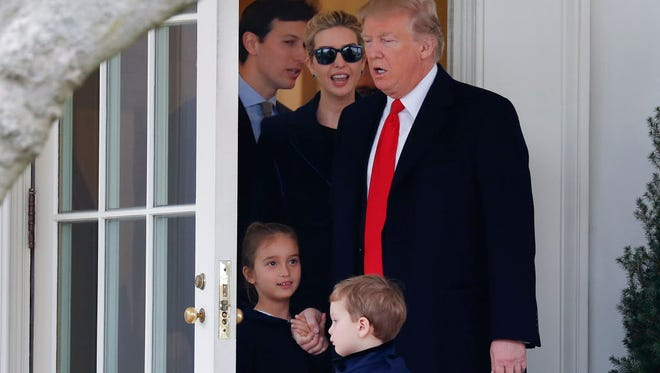 The Trumps at the White House in March.