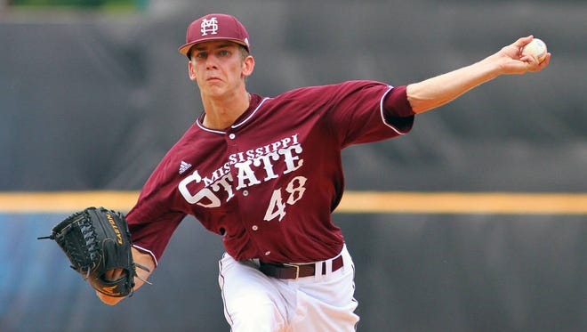 With the help of Ross Mitchell, Mississippi State moved back into the college baseball polls this week.