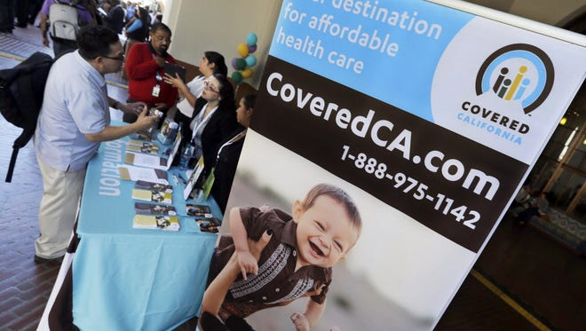 An information table about California's health insurance exchange last year.
