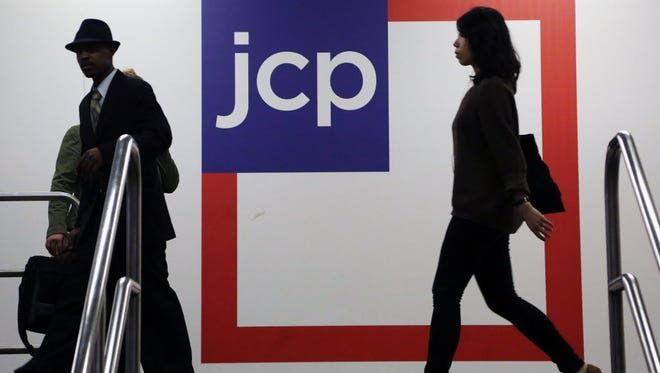 Customers shop at a J.C. Penney store in New York.