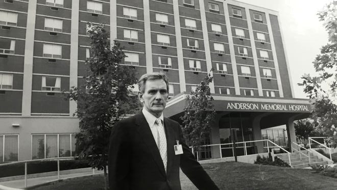 Kirk Oglesby, CEO of Anderson Memorial Hospital, poses for a portrait by Independent Mail staff photographer Martha Sheely in September 1986. Years later, the AnMed Health Campus was named after Oglesby as his successor John Miller, Jr. opened the doors to the newer facility on S.C. 81 North.