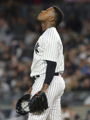 Luis Severino as his team struggled in the fifth inning