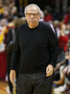Houston Rockets owner Leslie Alexander walks off the court after a game against the Cleveland Cavaliers.