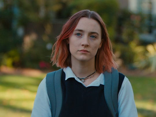 "Saoirse Ronan, left, in ""Lady Bird."""