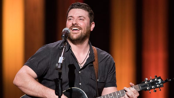 Country music star Chris Young is performing at the