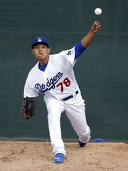 Dodgers prospect Julio Urias is 1-3 with a 3.51 ERA at three minor-league levels this season.