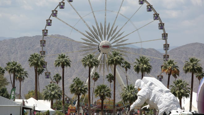 Music fans can be seen Saturday, April 19, 2014 during the second weekend of the Coachella Valley Music and Arts Festival in Indio, CA.
