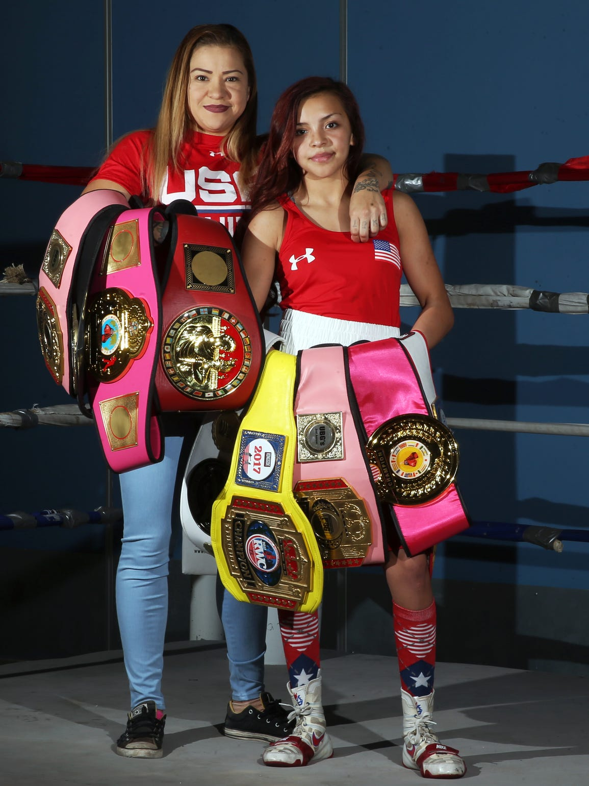 Crystal Aceves, left, with daughter, Kayla Gomez, 14,