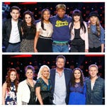 Teams Pharrell and Blake on 'The Voice' Mondays and Tuesdays at 8:00 on NBC 12