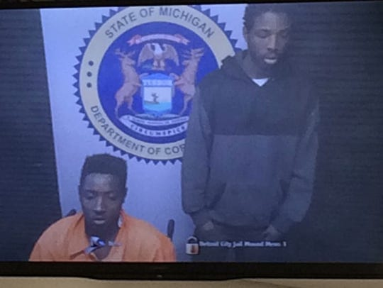Jujuan Alexon Williams, 19, left, and Charles Marion