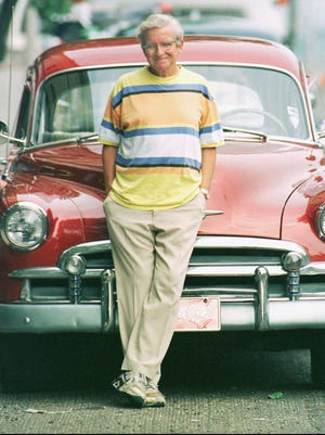 """Dan Wakefield, Indianapolis, 1996, at the filming of """"Going All the Way."""""""