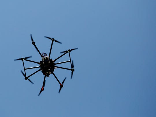 A drone is demonstrated  Wednesday.