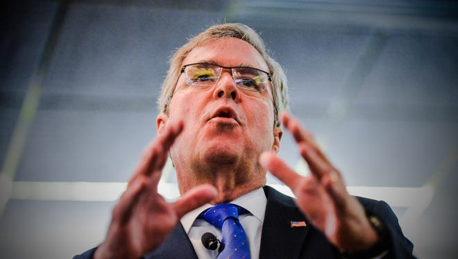 Jeb Bush in Greenville, SC on Tuesday, March 17 2015.