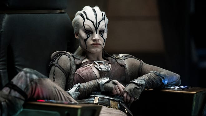 Jaylah's (Sofia Boutella) time in the captain's chair in 'Star Trek Beyond' came about by accident.