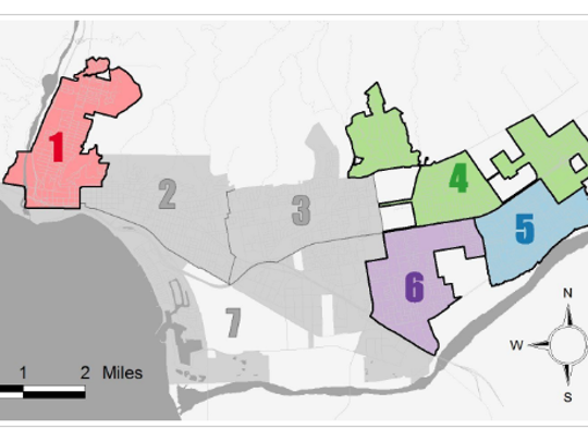 Only districts 1, 4, 5 and 6 are up for a vote in November.