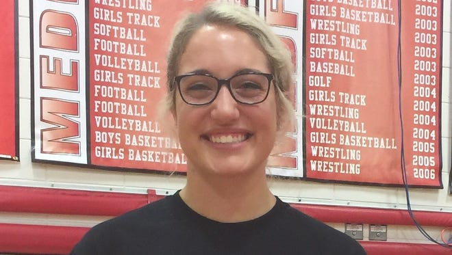 Lainey Brunner is one of four returning seniors for a Medford volleyball team that is tied with Mosinee for first place in the Great Northern Conference.