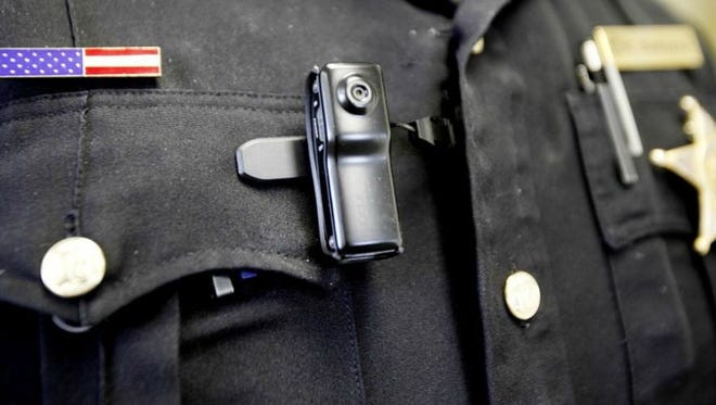 A sample body camera. Buncombe County sheriff's deputies started wearing the cameras a year ago.