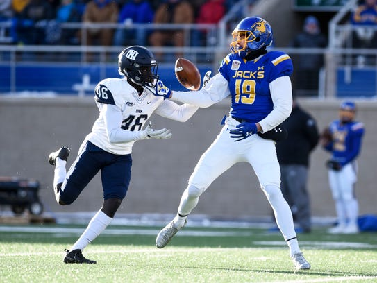 South Dakota State Jackrabbits wide receiver Jake Wieneke