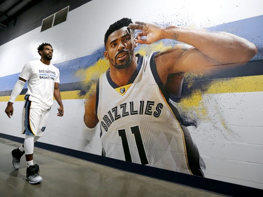 September 26, 2016- Mike Conley walks towards radio