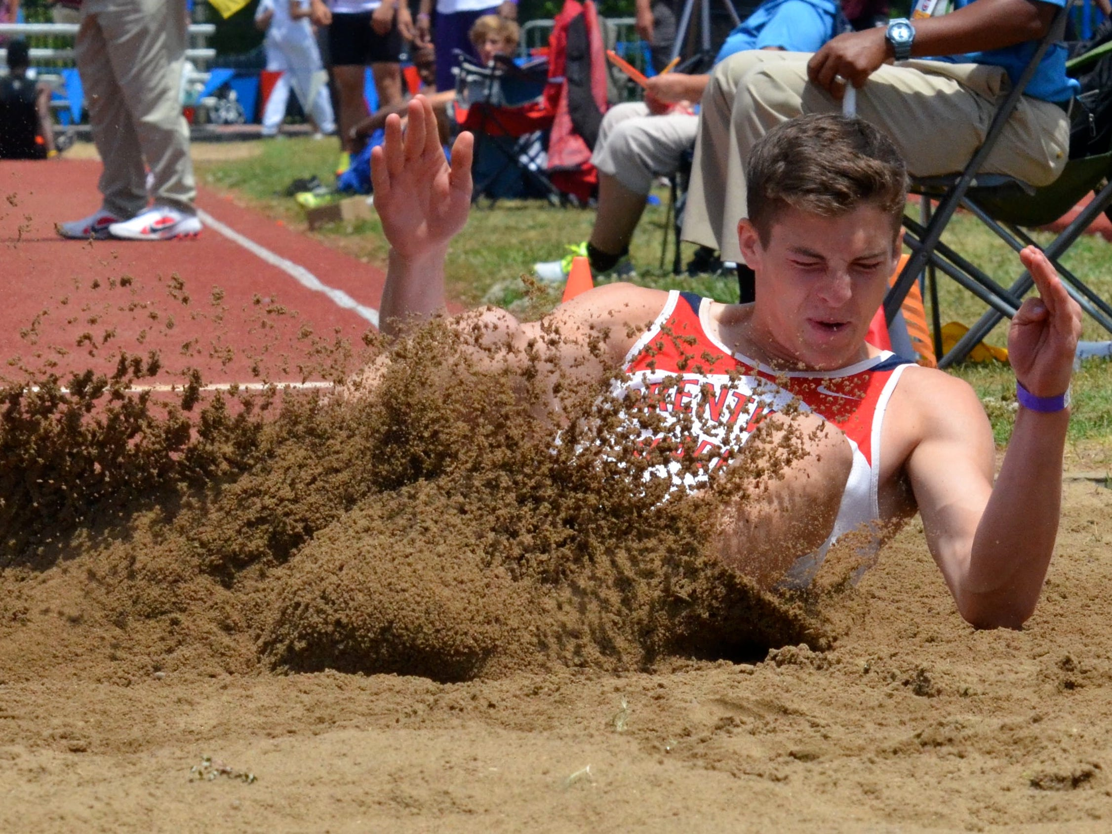 Brentwood Academy's George Patrick won five Division II events, including the long jump and triple jump on Friday.