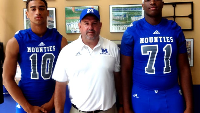 Tarrin Earle (left), coach John Fiore and Marcus Crowell have high expectations for Montclair.