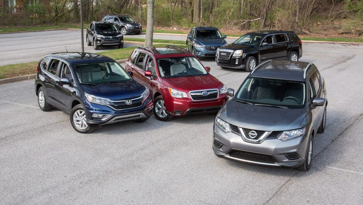 The seven-vehicle field for the $28,000 Compact SUV Challenge.