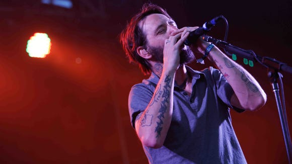Ben Bridwell of Band of Horses performs at Firefly Music Festival in Dover in 2014.