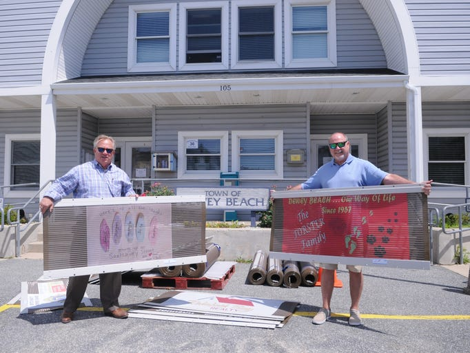 Dewey Beach Mayor TJ Redefer and Commissioner Paul