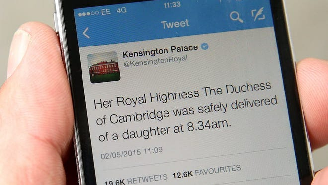 A tweet released by Kensington Palace on twitter announces that Catherine, Duchess Of Cambridge has given birth to a baby girl.