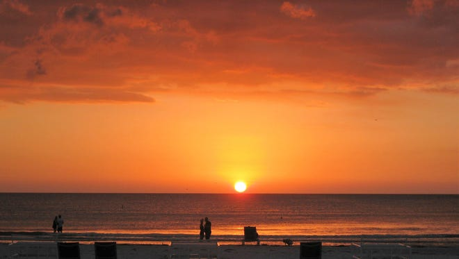 Sunset over the Gulf of Mexico is beautiful to behold in Pass-a Grille.