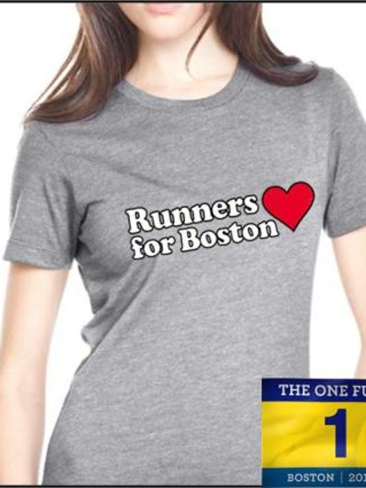 Those who donate $20 to One Fund Boston at Monday's event will get this T-shirt. (Submitted photo)