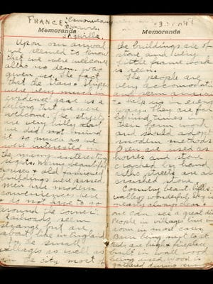American WWI Soldier Diary Pages