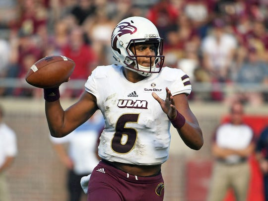 Evans exploded for 3,451 all-purpose yards as a sophomore — the second-highest single season total in ULM history — and led the Warhawks with 13 rushing touchdowns. His 2,878 passing yards were sixth all-time in a single season.