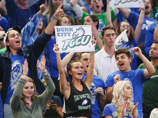 Action between FGCU and FSU on Thursday in the NCAA