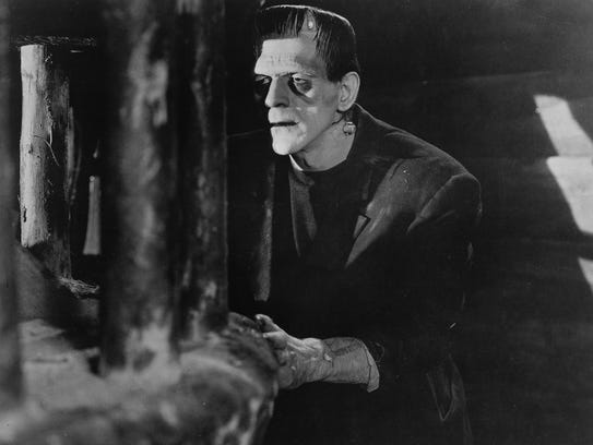 Boris Karloff appears in a scene from the 1931 classic