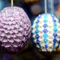 Easter eggs decorate a tree in a garden in Saalfeld, eastern Germany, on March 19, 2015. Around 10,000 colorful eggs will hang on the tree until Easter Monday, April 6, 2015.