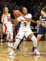 Marist College's Alana Gilmer looks to pass against