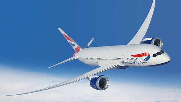 An undated image of a British Airways Boeing 787-8