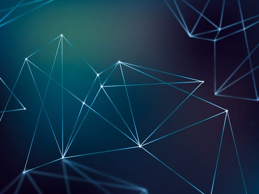 Abstract mesh background with nodes and lines. Futuristic Design