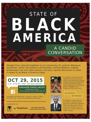 "The first-ever ""State of Black America"" forum will take place in Appleton on Oct. 29."