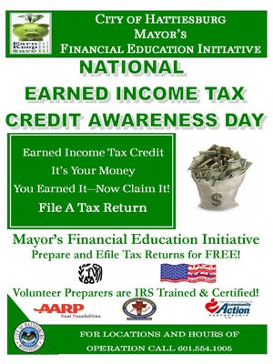 The City of Hattiesburg Mayor's Financial Education Initiative tax partners will begin preparing free tax returns, including electronic filing, on January 25.