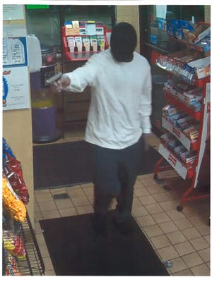 Neenah police released this photo of the suspect in Thursday morning's armed robbery at 1013 Main St.