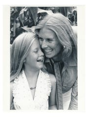 Cloris Leachman with her daughter, Dinah.