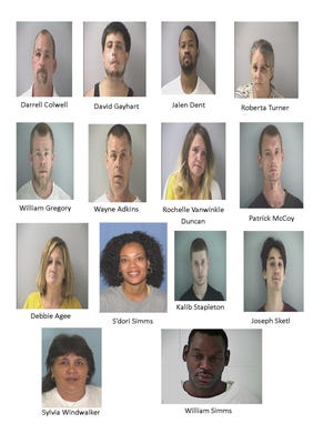 The 14 people arrested in a sweep by the Butler County Sheriff's Office.