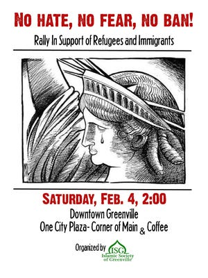 A rally protesting President Trump's immigration ban is planned for 2 p.m. Saturday.